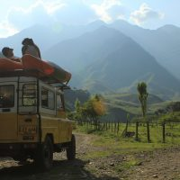 Car Colombia mountains travel