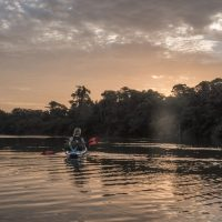 Kayak Colombia, river , amazon