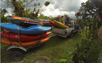 Car kayak Colombia shuttle