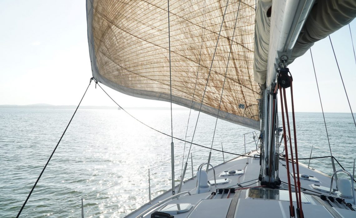 sailboat on the caribbean