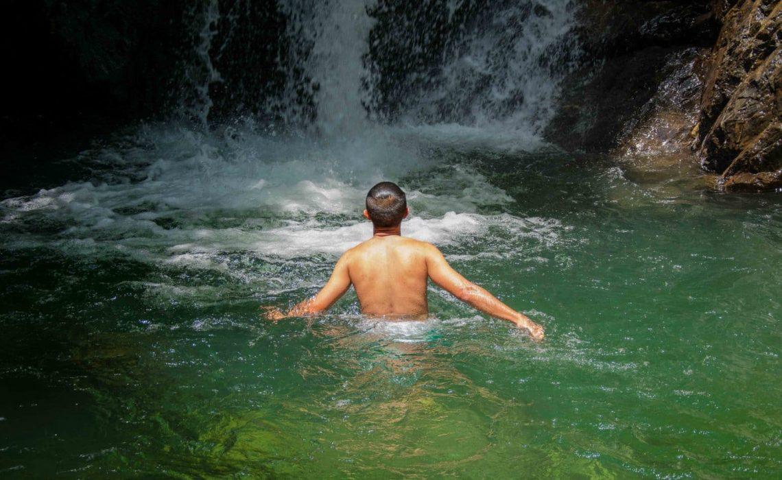 waterfall swim cocoa tour colombia