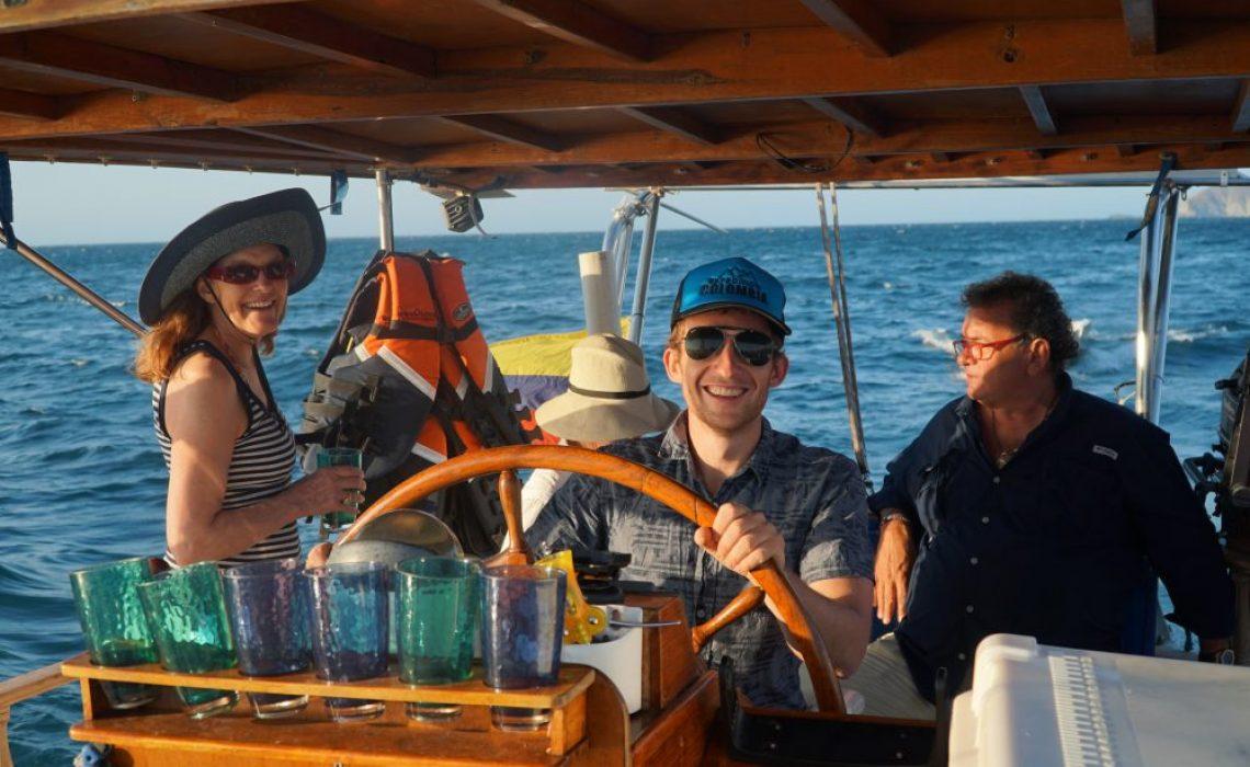 people happy boat sailing
