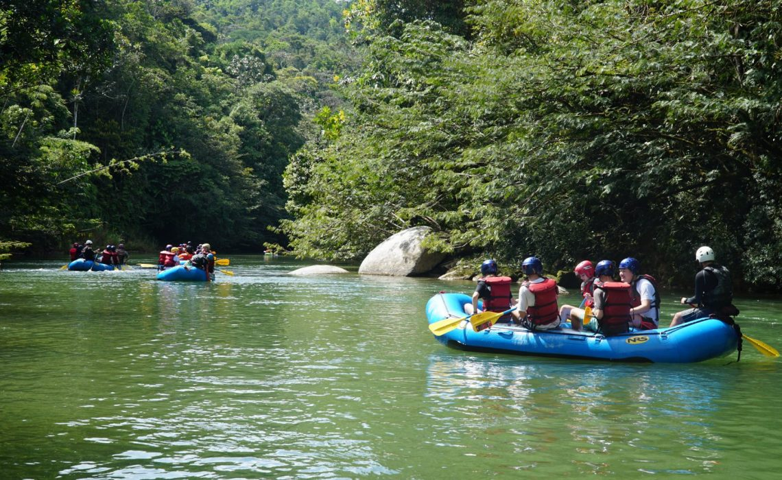 rafting fleet on the Rio Verde
