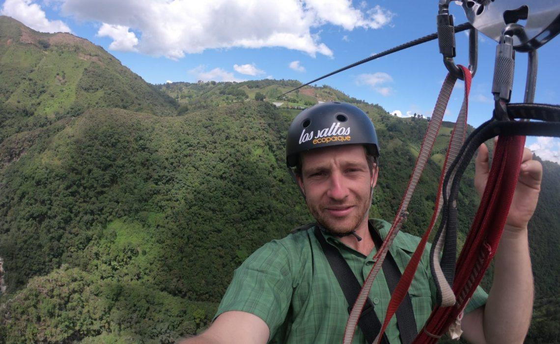 man paragliding antioquia
