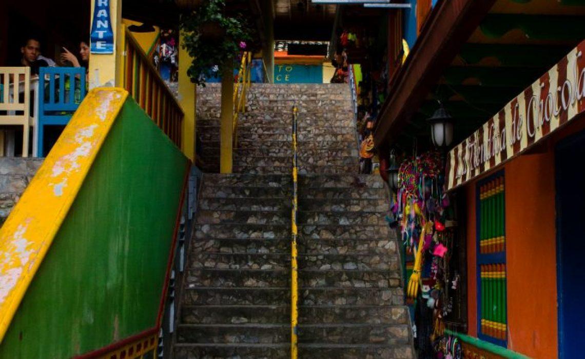 stairs guatapé color village
