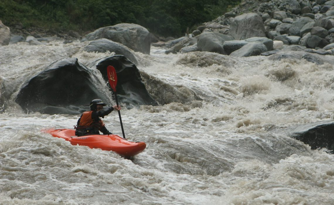 kayaker in colombia