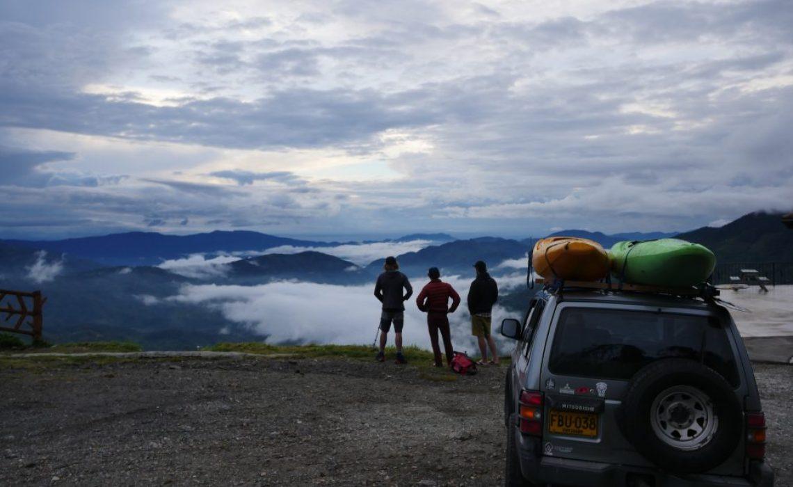 car mountain kayak