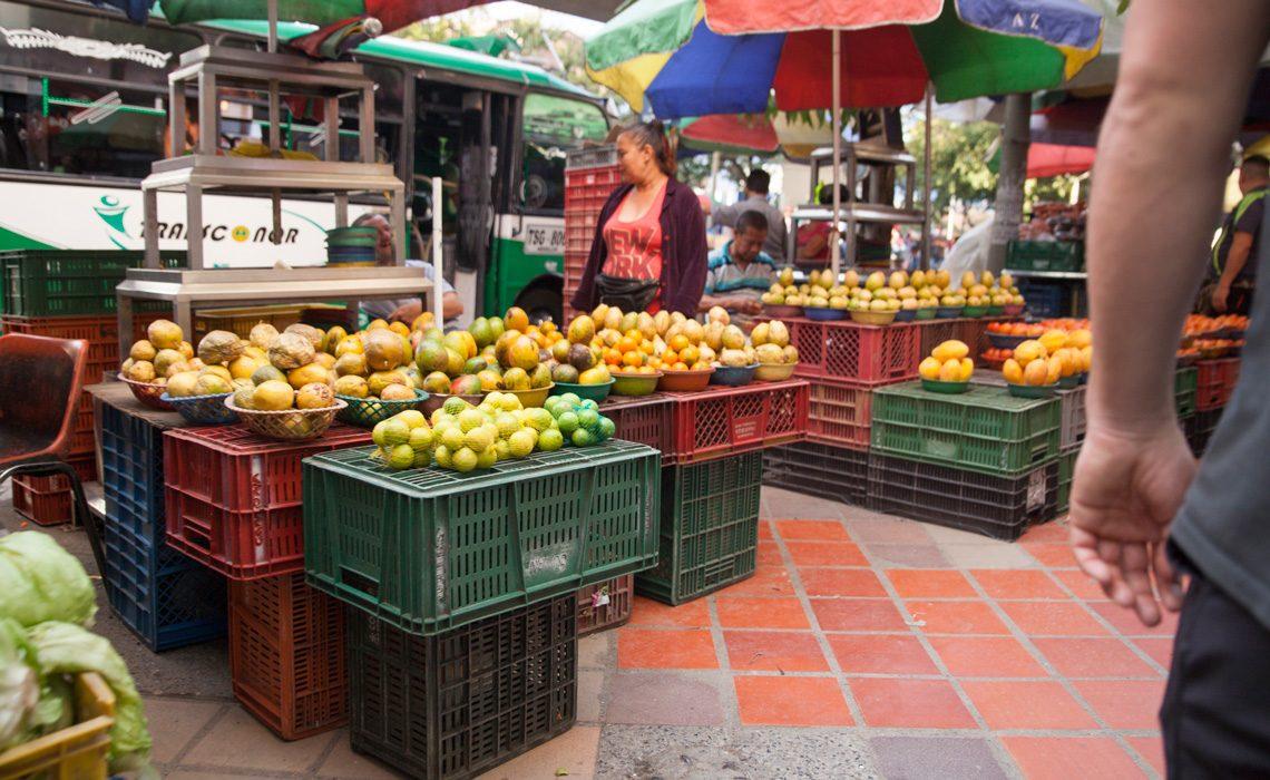 fruit vendors on the street
