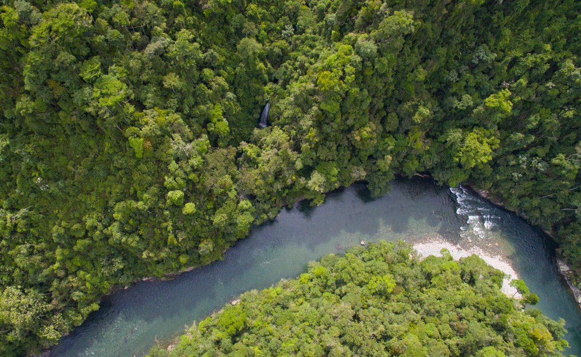 Rio Samana aerial view