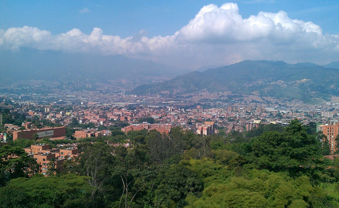 medellin view mountains antioquia