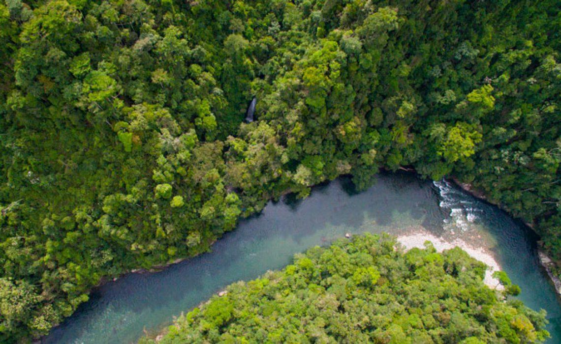 rio verde waterfall drone shot