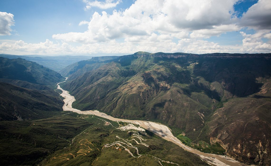 river mountains jungle colombia