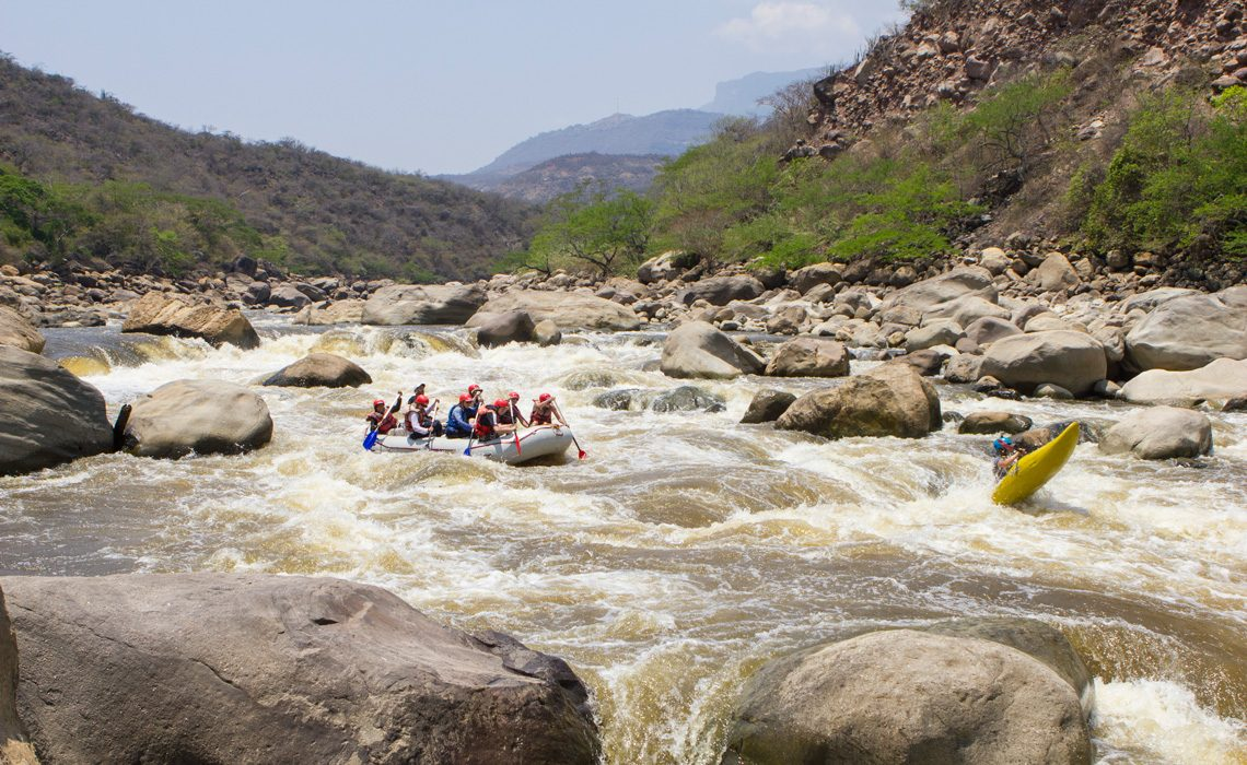 rafting river colombia mountains