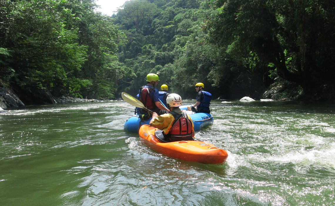 kayak and raft in the jungle