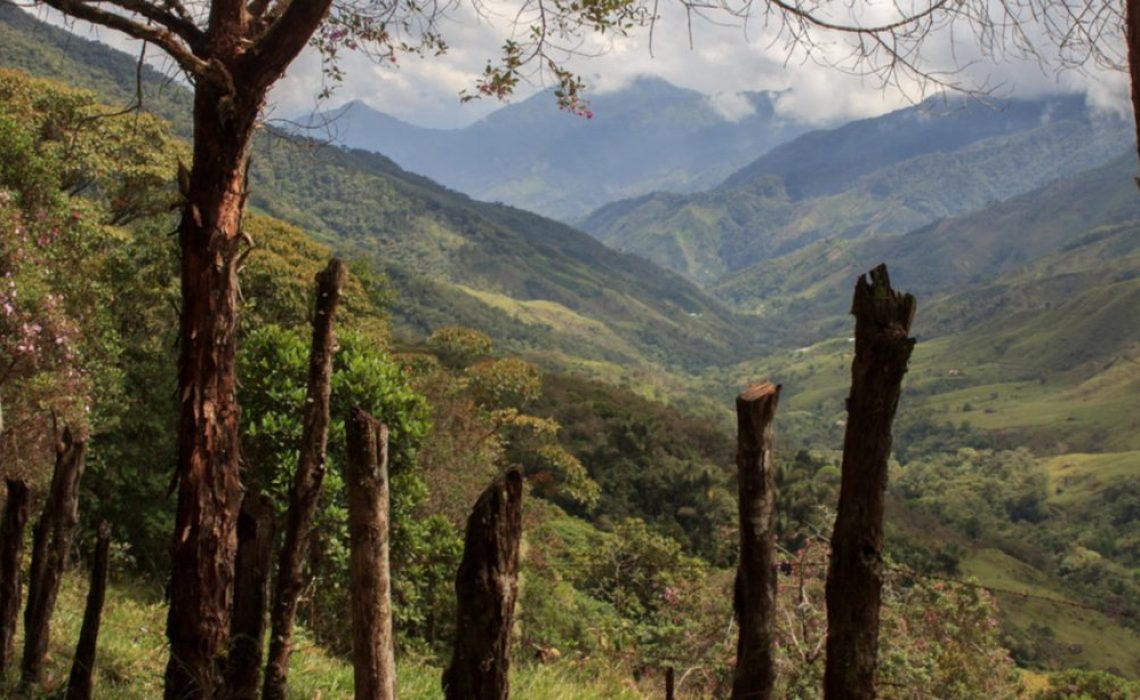 mountain colombia countryside