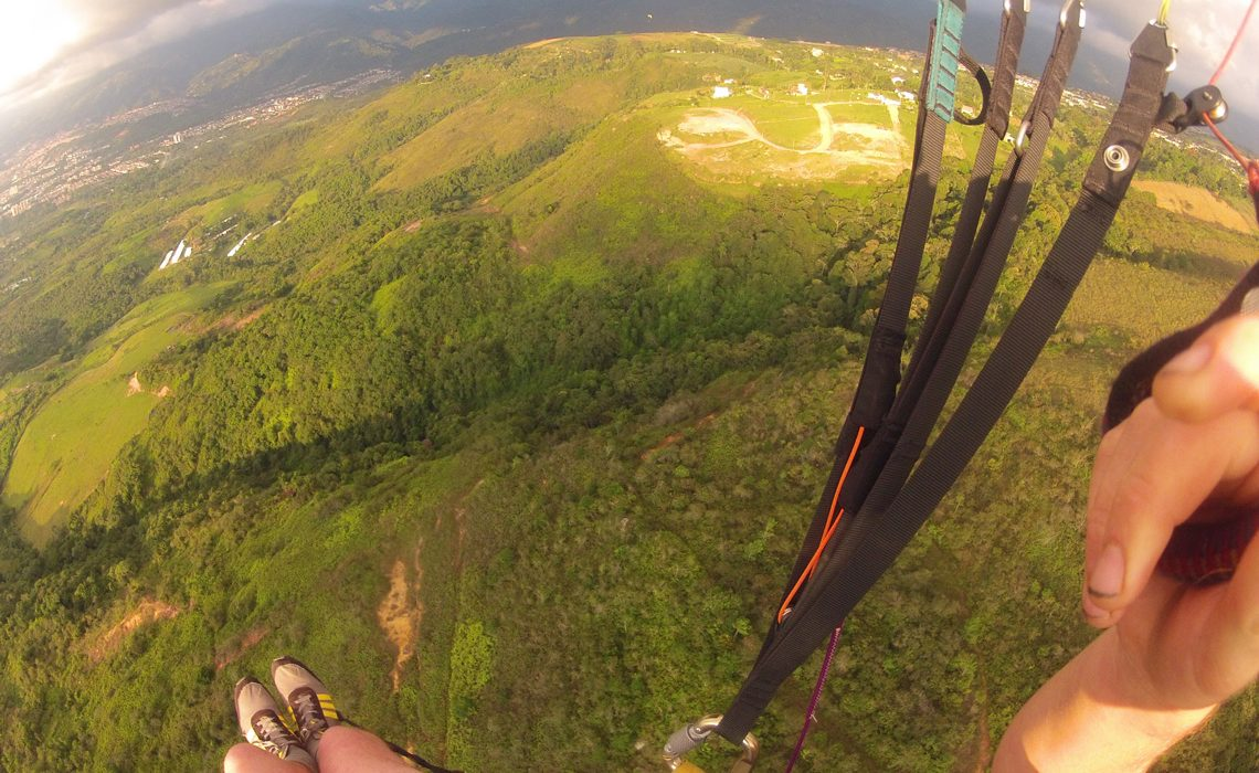 paragliding view of the ground