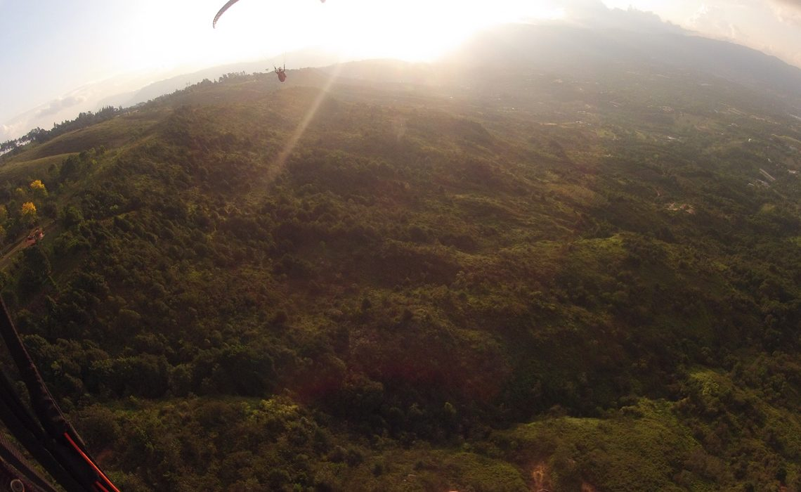 gopro of 2 paragliders