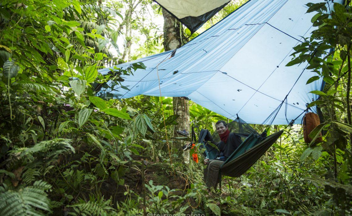 hammock colombia jungle river trek rafting